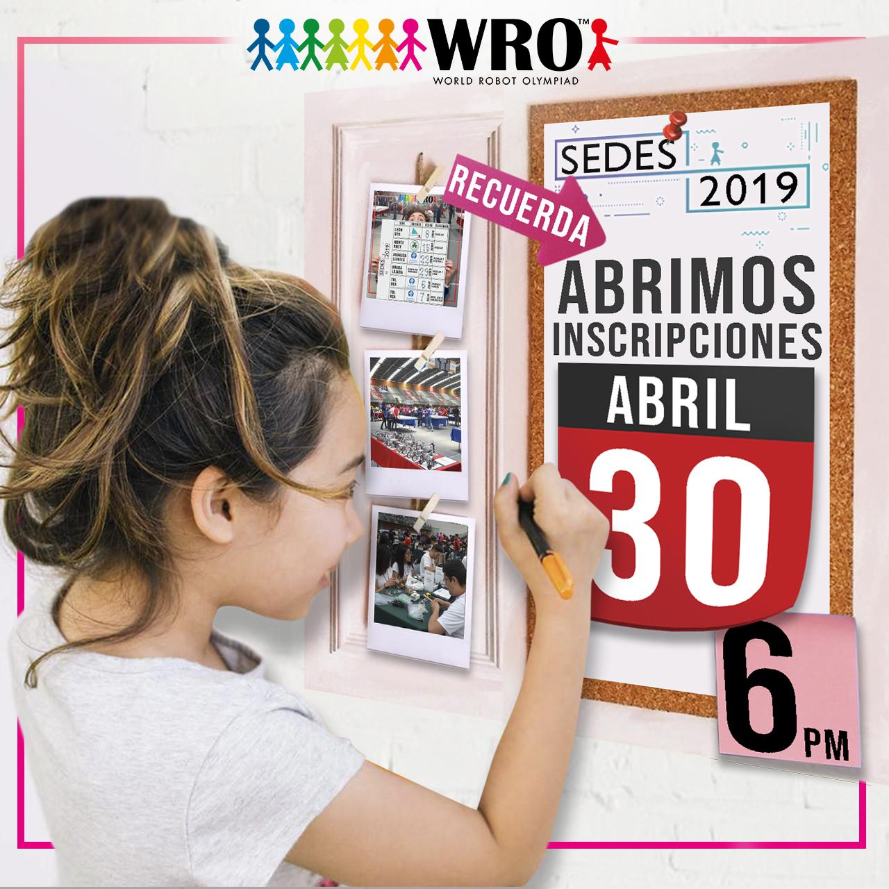 WRO México | Recuerda inscripciones