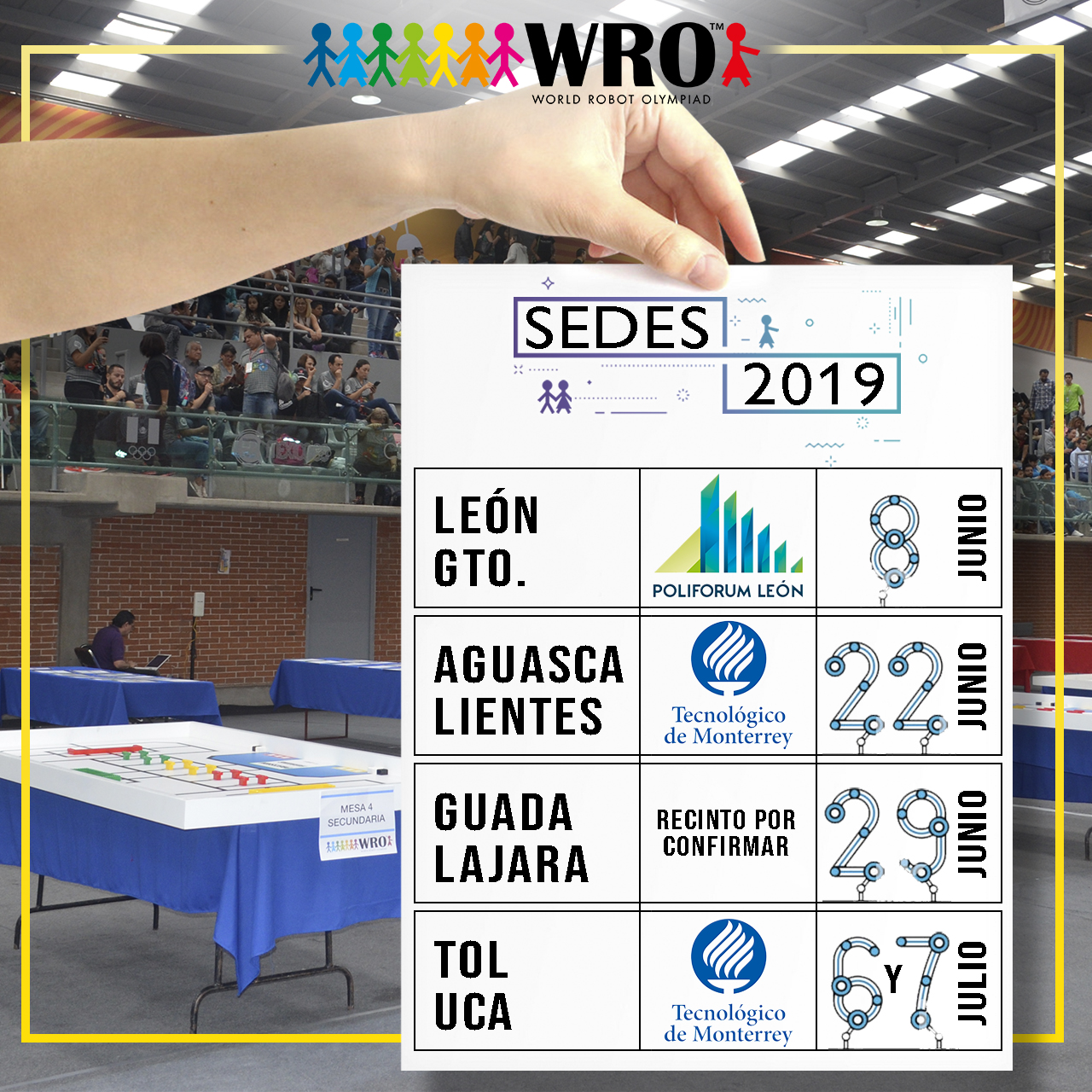 WRO México | Adelanto Sedes