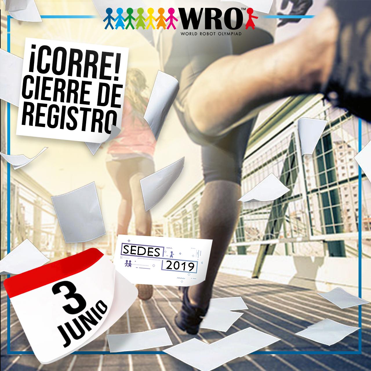 WRO México | Próximo cierre de Registro
