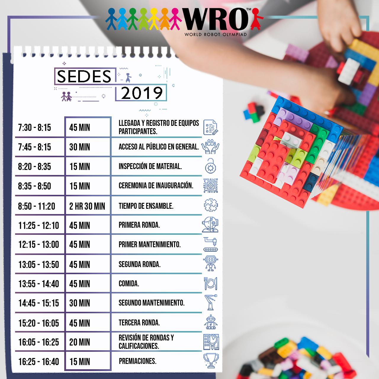 WRO México | Agenda Sedes 2019