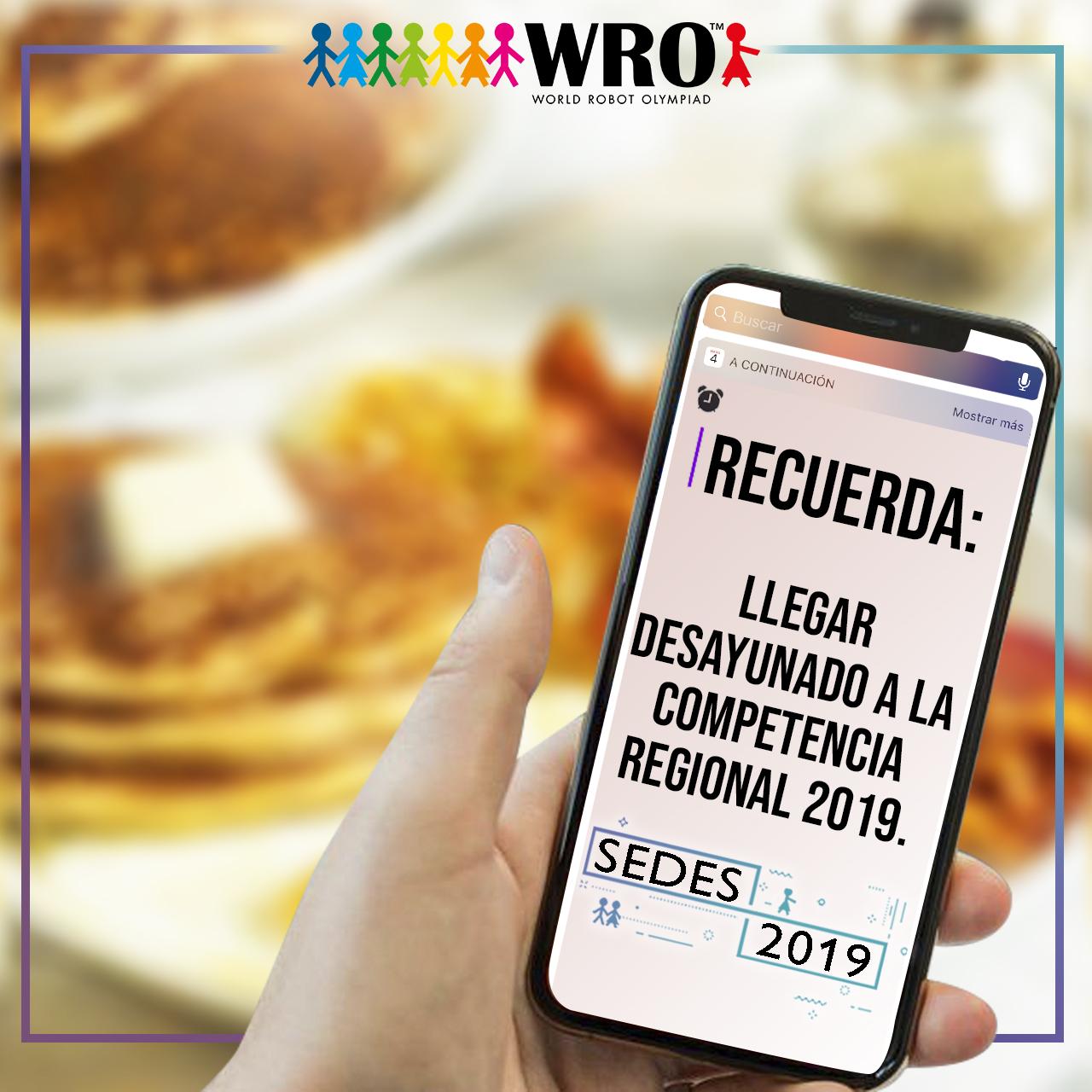 WRO México | Ven desayunado