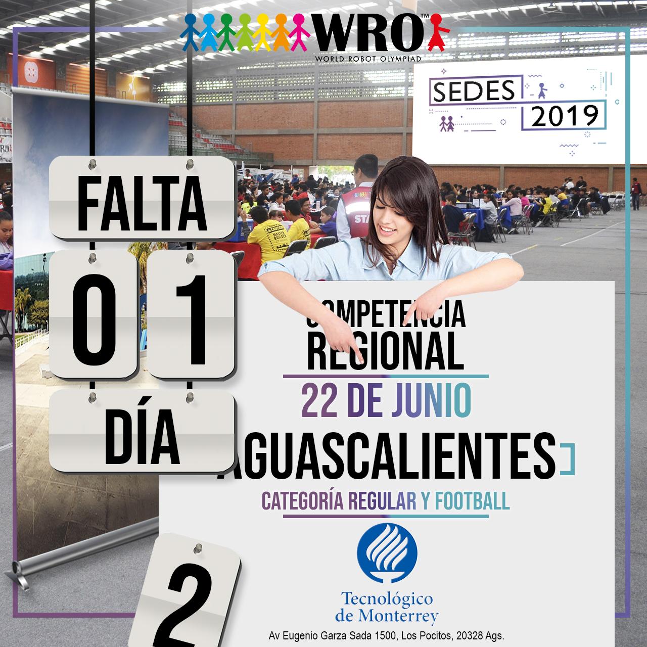 WRO México | Falta 1 día Sede Aguascalientes