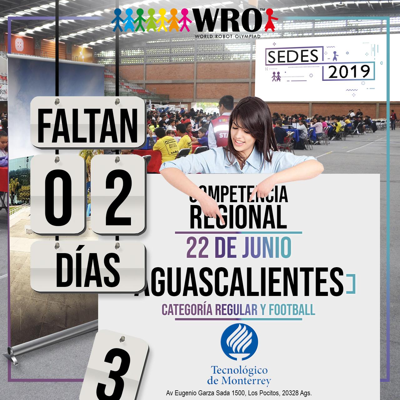 WRO México | Faltan 2 días Sede Aguascalientes
