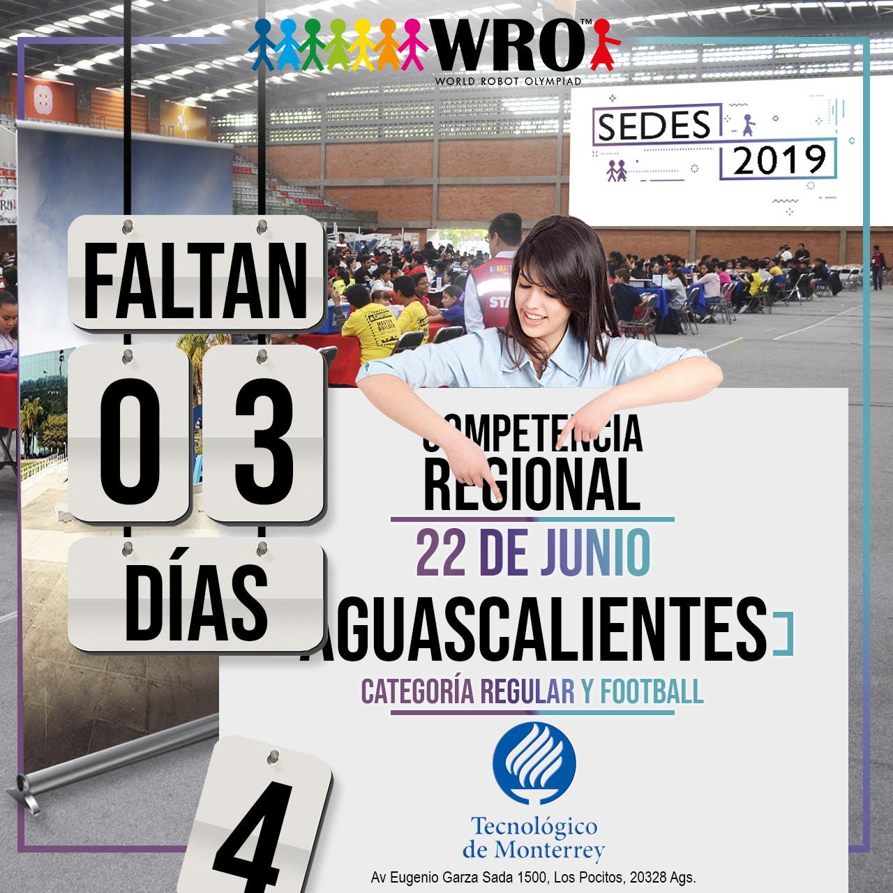WRO México | Faltan 3 días Sede Aguascalientes