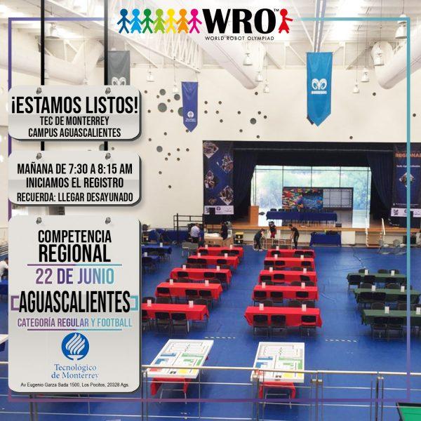WRO 2019 Sede Aguascalientes Estamos listos