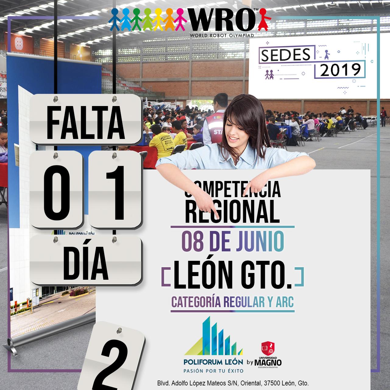 WRO México | Falta 1 día Sede León