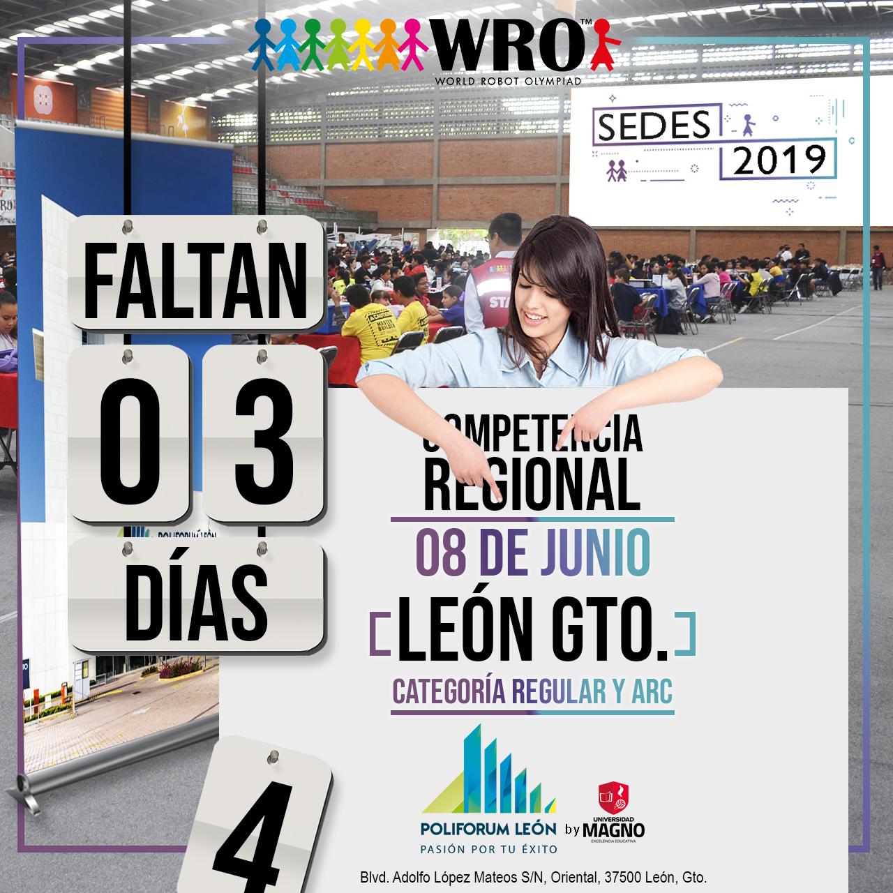 WRO México | Faltan 3 días Sede León