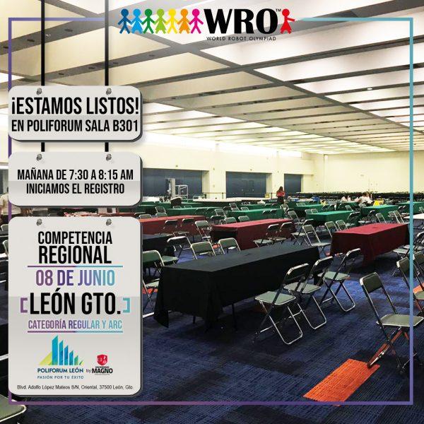 WRO 2019 Sede León Estamos listos 1