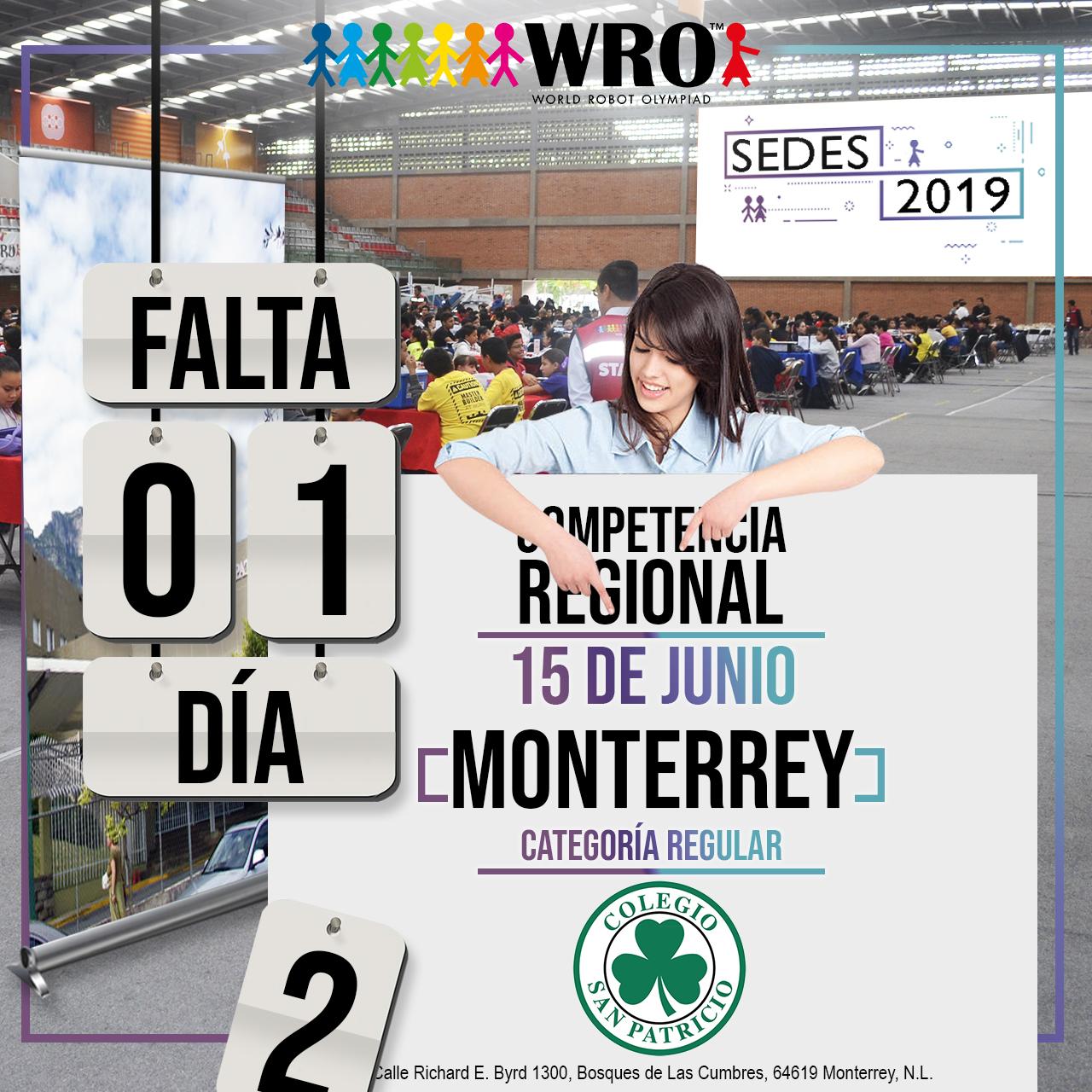 WRO México | Falta 1 día Sede Monterrey
