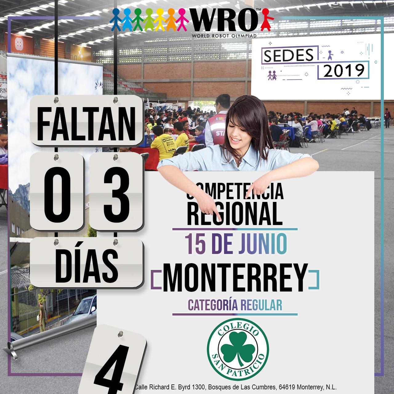 WRO México | Faltan 3 días Sede Monterrey