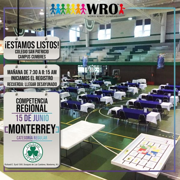 WRO 2019 Sede Monterrey Estamos listos
