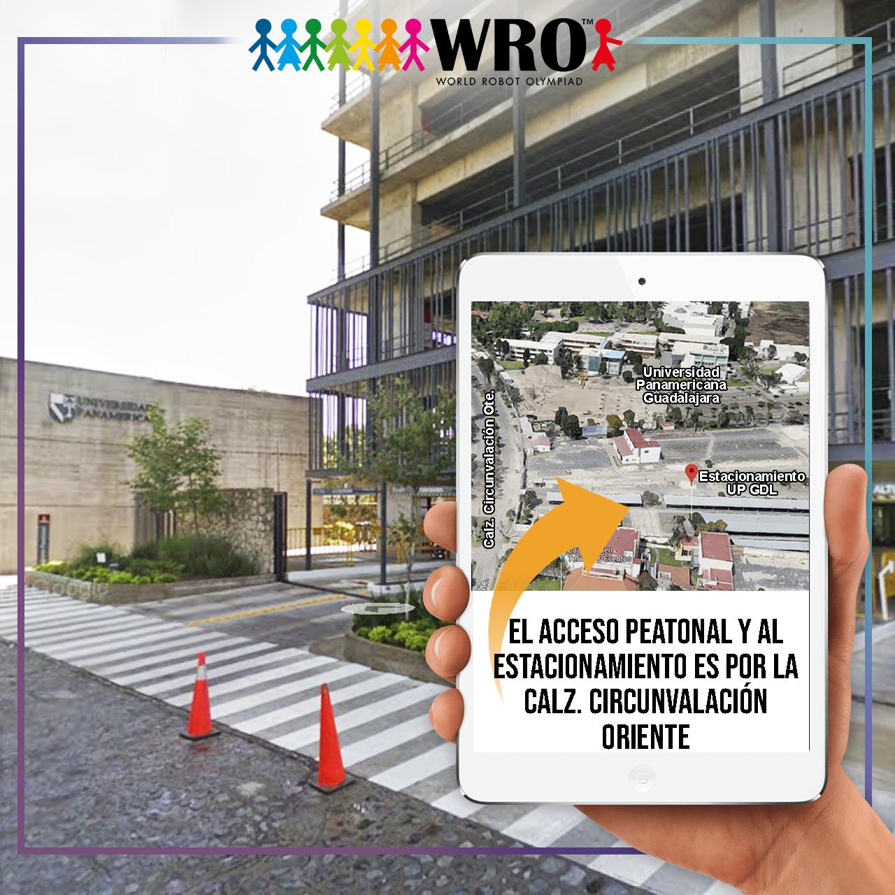 WRO México | Acceso Sede Guadalajara