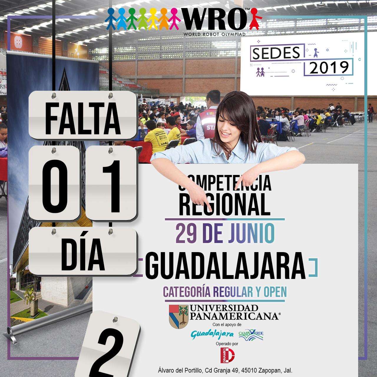 WRO México | Falta 1 día Sede Guadalajara