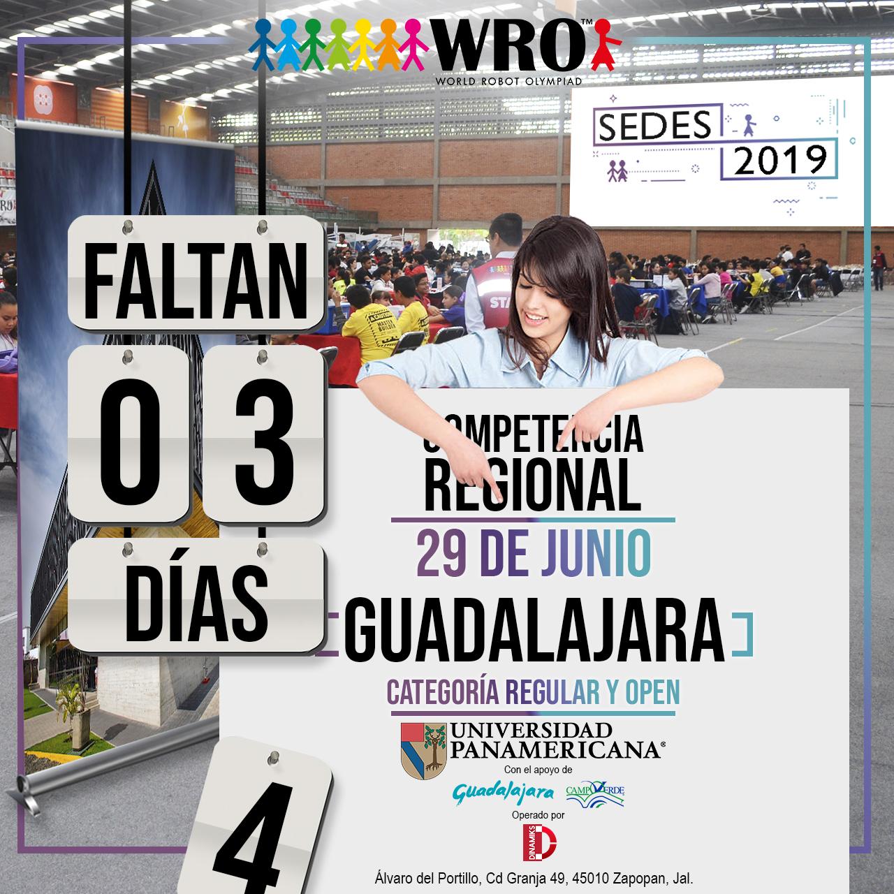 WRO México | Faltan 3 días Sede Guadalajara