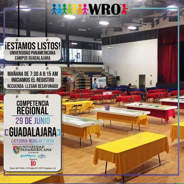 WRO 2019 Sede Guadalajara Estamos listos