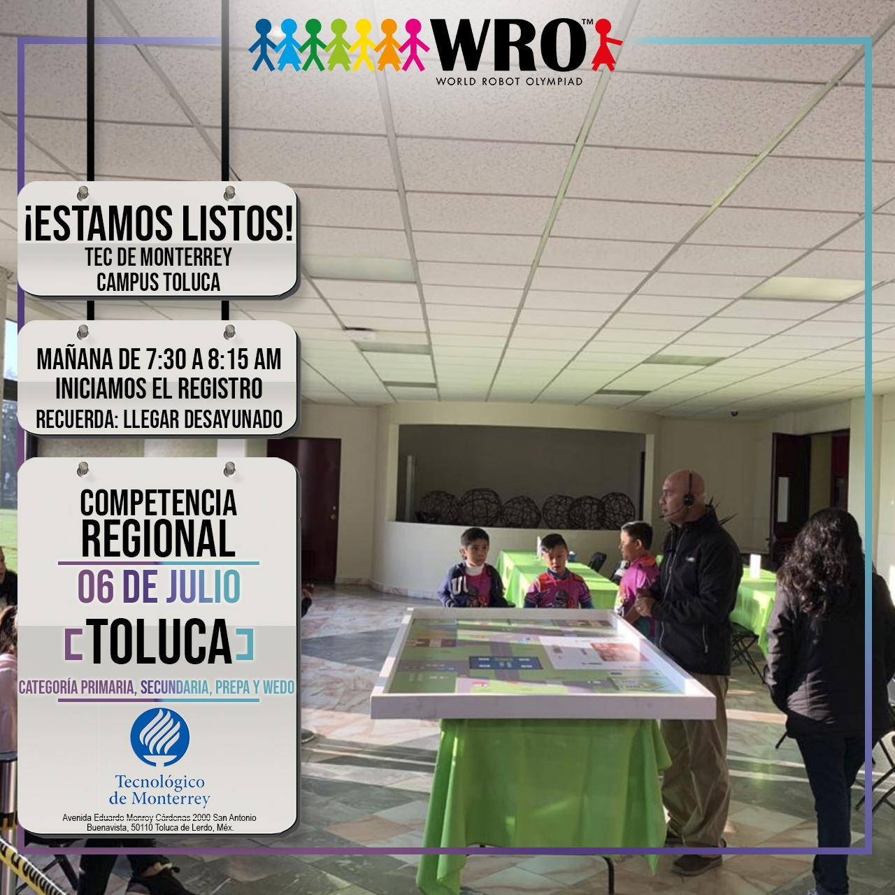 WRO México | Sede Toluca Lista
