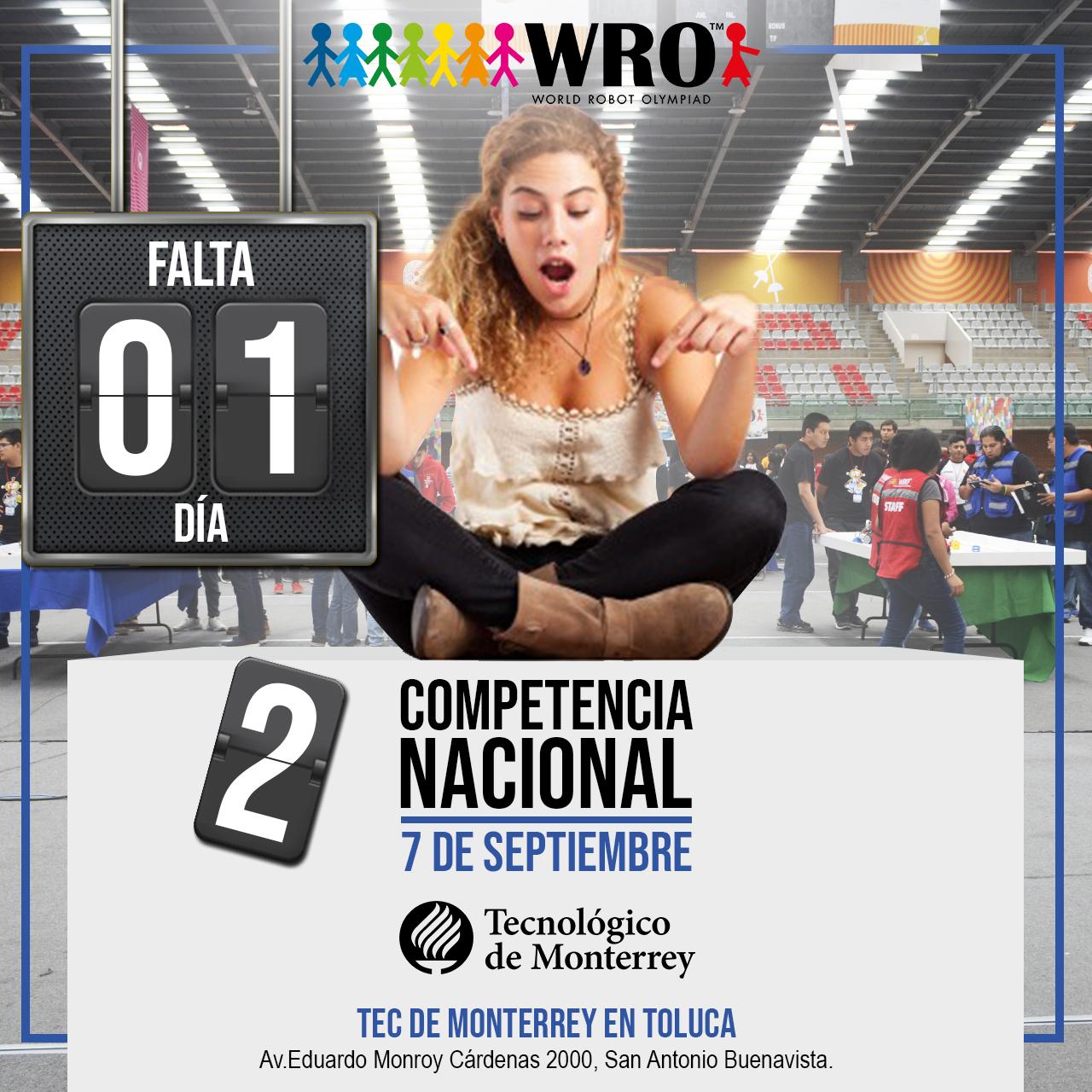 WRO México | Falta 1 día Nacional WRO
