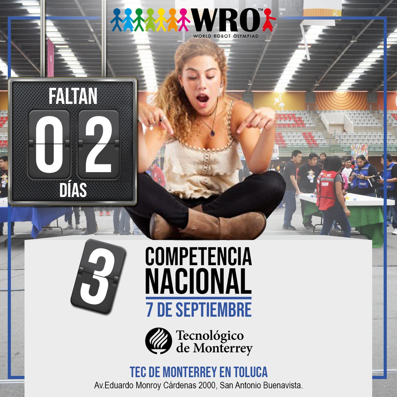 WRO México | Faltan 2 días Nacional WRO