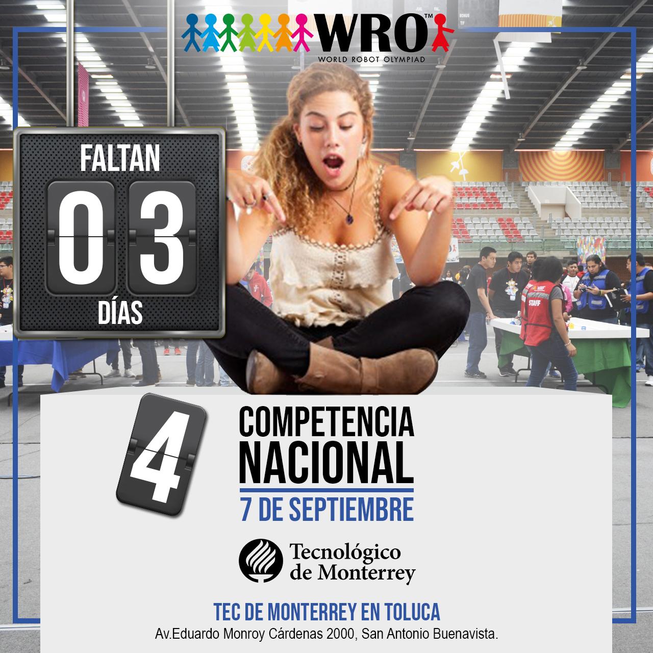 WRO México | Faltan 3 días Nacional WRO