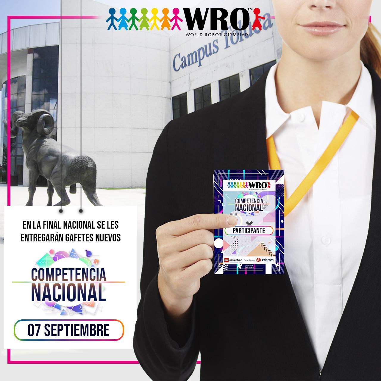 WRO México | Gafetes Nacional